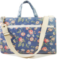 """Waterproof- 15"""" Macbook or Laptop bag with handles and detachable shoulder strap- Floral -Ready to ship"""