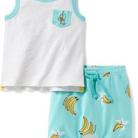 2-Piece Graphic Tank and Shorts Set for Baby | Old Navy