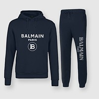 BALMAIN Fashion Casual Top Sweater Pullover Hoodie Pants Trousers Set Two-Piece