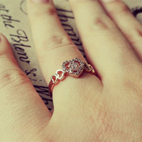 YAN & LEI Alloy CZ Heart Ring in US 5