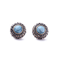 Retro Pave Stud Earrings