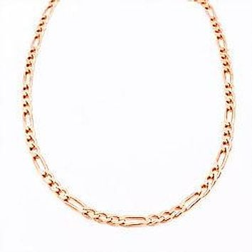 Italian Sparkle Figaro Necklace Chain| 925 Sterling Silver