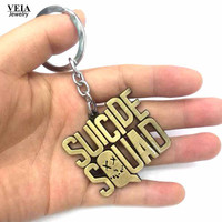 DC Marvel Superhero Suicide Squad Bronze Pendant Key Chains Keychain Men key Keyrings Women porte clef Jewelry