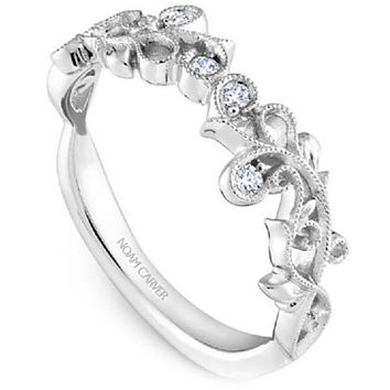 Noam Carver Nature Inspired Scrollwork Stackable Band