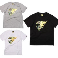 spbest A Bathing Ape 1st Camo Ape Face On Bapesta T-Shirt