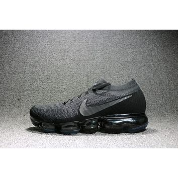 2018 Nike Air Max VaporMax Flyknit Men Women Running Shoes Black