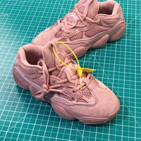 Kanye West X Adidas Yeezy 500 Runner Boost Women's Rose Pink Sneakers - Best Online Sale