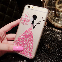 Rhinestone Ball Gown Case for Iphone 6