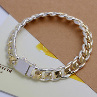Dower Me Classic Alloy Silver Link Chain Men H091