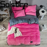 Solstice Home Textile High-end luxury soft and comfortable crystal velvet fabric bedding linens Quilt cover pillowcase