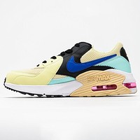 Nike Air Max Excee 90 New fashion hook couple shoes yellow