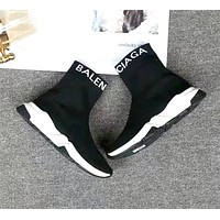 Balenciaga women's models wild high-top letters LOGO socks shoes