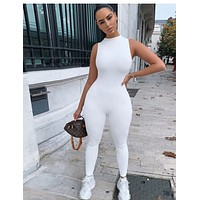 Women's sleeveless slim sports jumpsuit