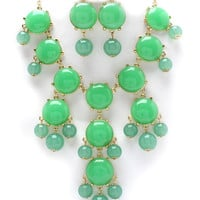 light Green Bubble j crew inspired bib statement necklace couture wedding christmas black friday