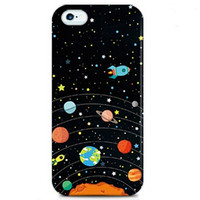 Black Funny Star Universe Cases for Iphone 6 plus 6s