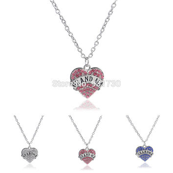 Family Values Collection™ Luxury Crystal Grandma Necklace - FREE SHIPPING!