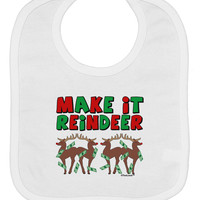 Make It Reindeer Baby Bib