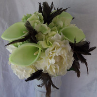 Hydrangea Wedding Bouquet-Calla Lily Wedding Bouquet- Ivory Peony Bouquet