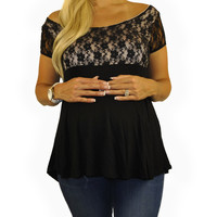Maternity Top-Day Lace Top