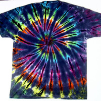 Tie Dye Shirt/ Made to Order/ Inverted Rainbow Spiral