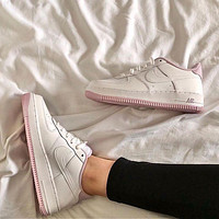 Nike Air Force 1 Low White Iced Lilac (GS) low-top sneakers shoes