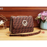 Fendi New Fashion Classic Double F Printed Letters Casual Shoulder Bag Women