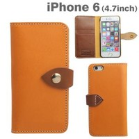 Strapya World : Brushup Standard Tochigi Leather Diary Type Case for iPhone 6 (Camel)