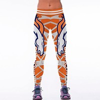 Denver Broncos 3D Printed Team Leggings