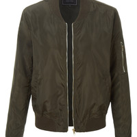 LE3NO Womens Classic Zip Up Bomber Jacket with Pockets