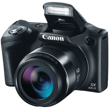 Canon PowerShot 1068C001 20.0 Megapixel PowerShot(R) SX420 IS Digital Camera (Black)