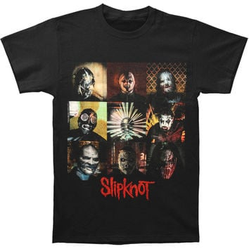 Slipknot Men's  Blocks T-shirt Black Rockabilia