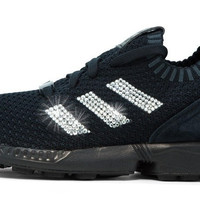 Adidas ZX Flux + Crystallized Swarovski 3-Stripe - Triple Black