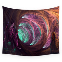 Society6 Towards The Light - Fractal Manipulation Wall Tapestry
