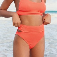 Out From Under Meg Ribbed High-Waisted Bikini Bottom | Urban Outfitters