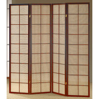 "Wildon Home ® 70"" x 68"" Shoji 4 Panel Room Divider I"