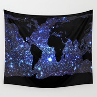 world Map Wall Tapestry by WhimsyRomance&Fun