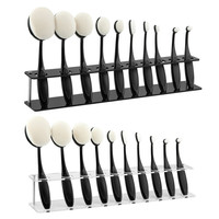 Makeup Brushes Display Holder Storage Stand Toothbrush Oval Brush Showing Rack 10 Grids