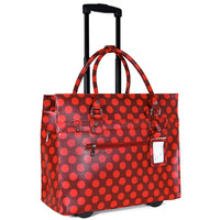 """""""THE POLKA DOT"""" Rolling iPad, Tablet or Laptop Rolling Briefcase Tote Bag"""