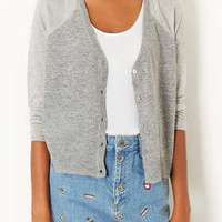 Petite Knitted Sheer Solid Cardi