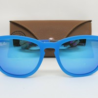 New Ray Ban Jr KIDS RJ9063S 701/55 Turquoise/Mirror Sunglasses 48mm w/ Case