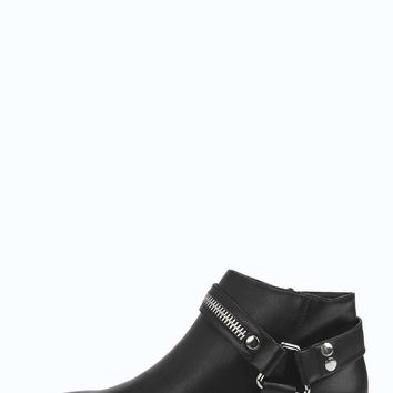 Aima Harness Block Heel Ankle Boot