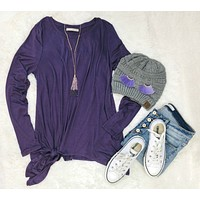 Forever Your Girl Tie Top: Purple