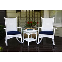 Tortuga Outdoor 3pc Portside Classic Wicker Rocking Chair Set