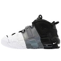 Nike Air More Uptempo new product stitching color men's and women's low-top sneakers casual shoes #5