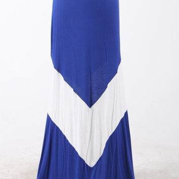 Royal & White V Maxi Skirt