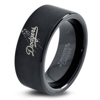 LA Dodgers Ring Mens Fanatic MLB Sports Baseball Boys Girls Womens Jewelry LA Dodgers Ring Los Angeles Ring Fathers Day Gift Tungsten Carbide 172