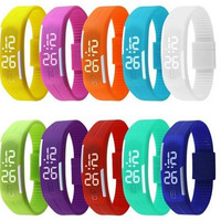 New Arrival! Fashion Sport LED Watches Candy Color Silicone Rubber Touch Screen Digital Watches, Waterproof Bracelet Wristwatch = 5979158017