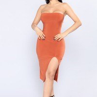 Stephanie Tube Dress - Rust