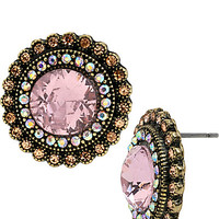 VINTAGE PINK BUTTON EARRING