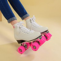 Women's Classic Retro 4 Wheels Quad Roller skates